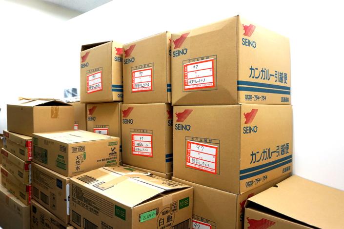 【防災備蓄】倉庫スペースには非常食入り防災グッズを完備しています。